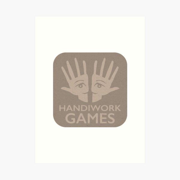 Handiwork Logo - Carboard Art Print