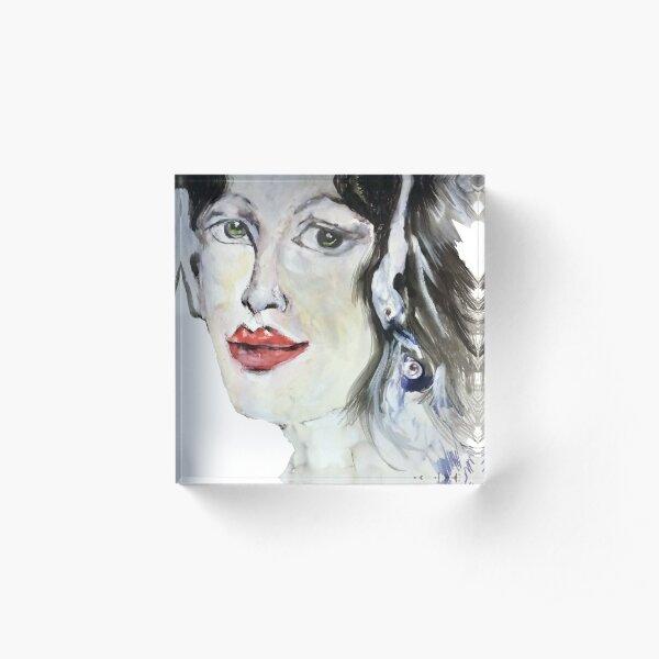 donna rossa,bocca rossa Acrylic Block