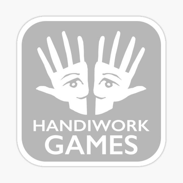 Copy of Handiwork Logo - Grey Sticker
