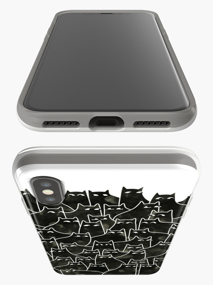Alternate view of Suspicious Cats iPhone Cases & Covers