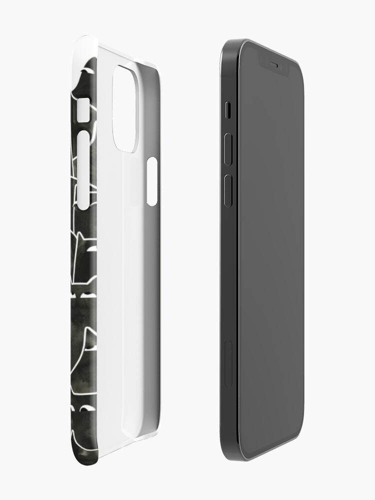 Alternate view of Suspicious Cats iPhone Case & Cover