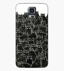 Verdächtige Katzen Hülle & Klebefolie für Samsung Galaxy