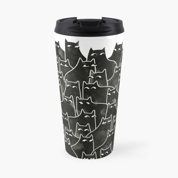 Suspicious Cats Travel Mug