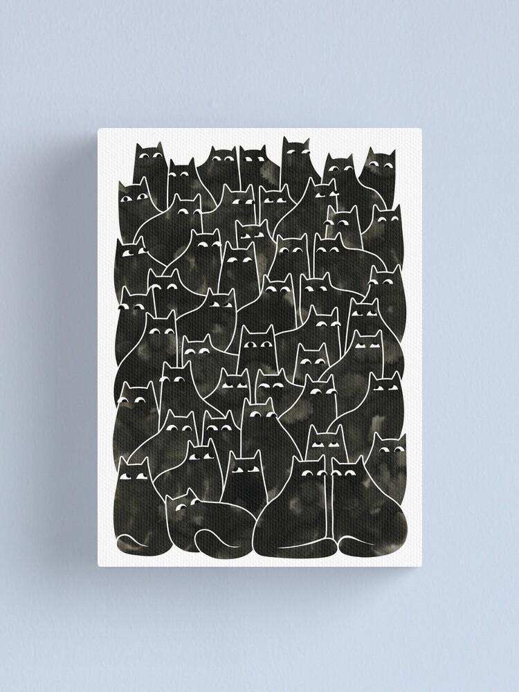 Alternate view of Suspicious Cats Canvas Print