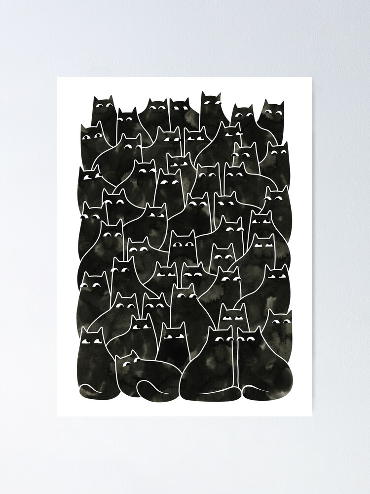 Alternate view of Suspicious Cats Poster