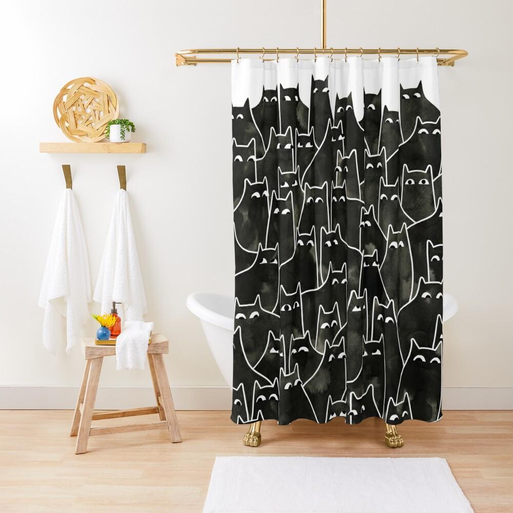 Suspicious Cats Shower Curtain