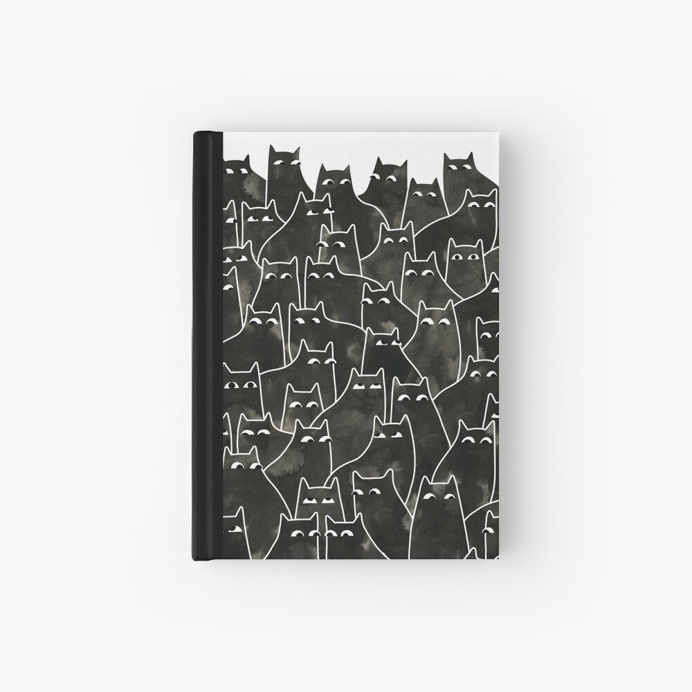 Suspicious Cats Hardcover Journal