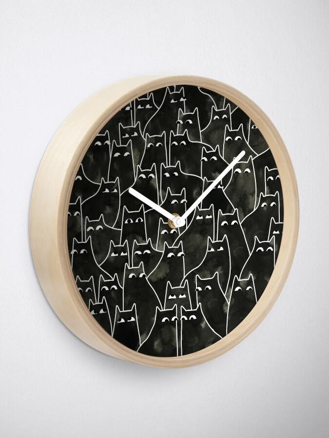 Alternate view of Suspicious Cats Clock
