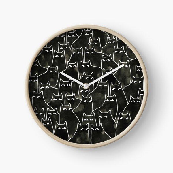 Suspicious Cats Clock