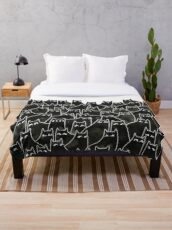 Suspicious Cats Throw Blanket