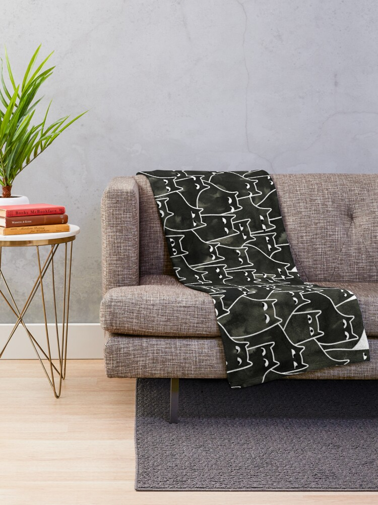Alternate view of Suspicious Cats Throw Blanket
