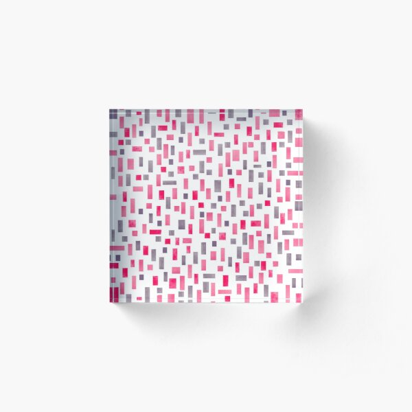 Geometric pattern Acrylic Block
