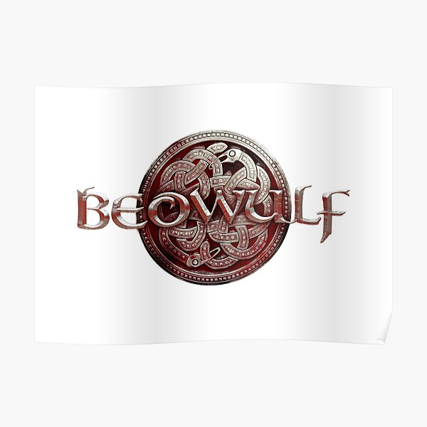 Beowulf Blood Red Logo Poster