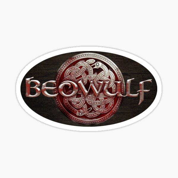 Beowulf Blood Red Logo Sticker