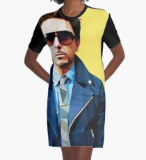 Robert Downey Jr - Low Poly Vector Graphic T-Shirt Dress