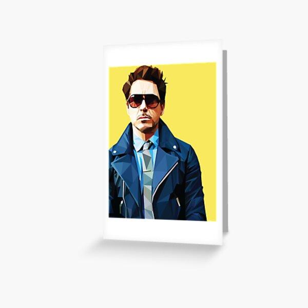 Robert Downey Jr - Low Poly Vector Greeting Card