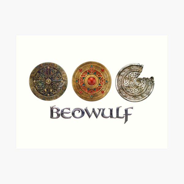 Beowulf Triple Icon Design Art Print