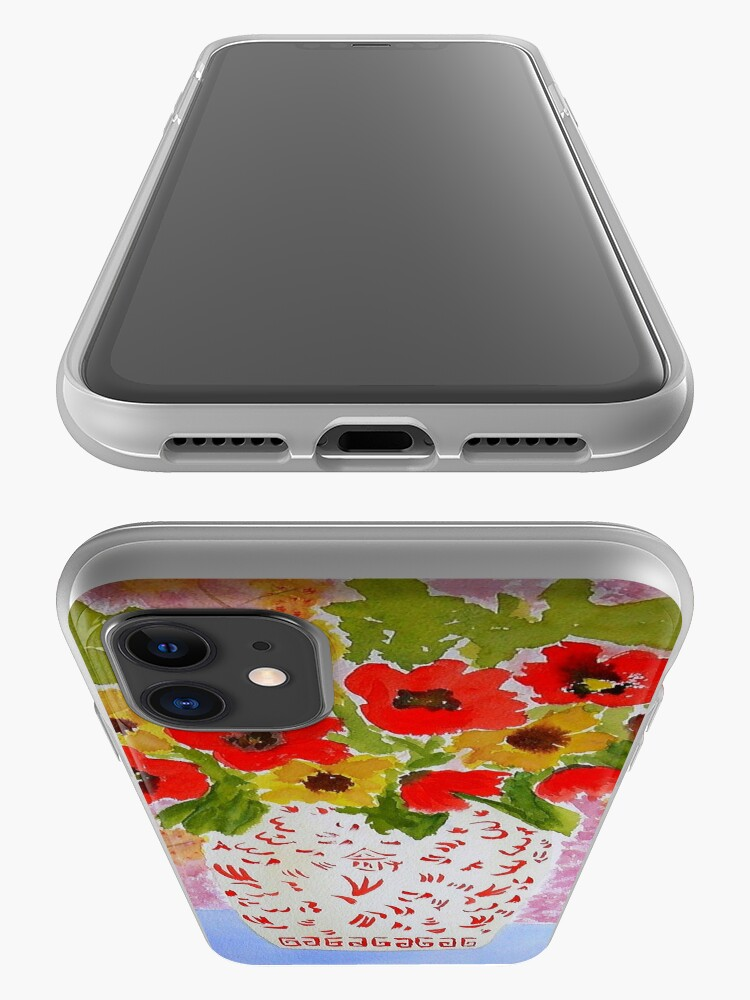 Alternate view of Chinoiserie Flowers iPhone Case & Cover