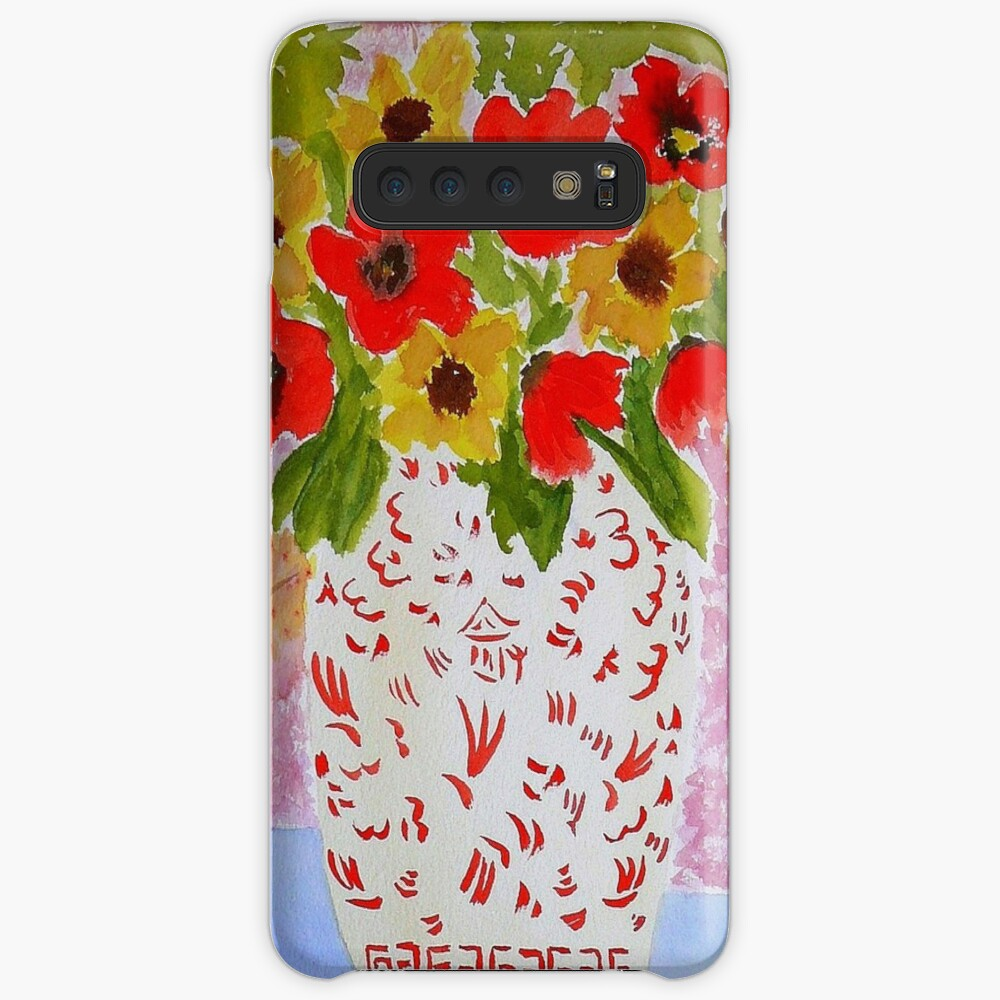 Chinoiserie Flowers Case & Skin for Samsung Galaxy