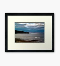 Evening at Sandsend Beach Framed Print