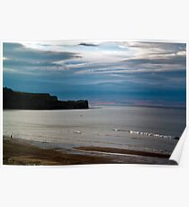 Evening at Sandsend Beach Poster
