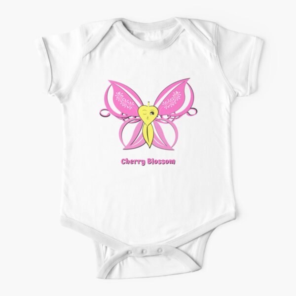 Cherry Blossom Short Sleeve Baby One-Piece