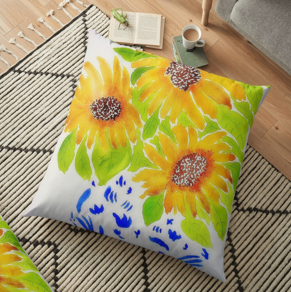 Sunflowers II Floor Pillow