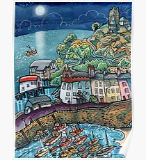 Summer Moonglow, Tenby Poster