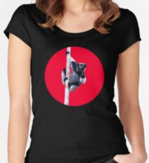 Indri indri sitting in the tree Fitted Scoop T-Shirt