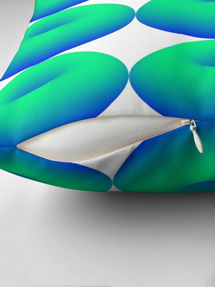 Alternative Ansicht von TORUS - Emerald Water Surface Dekokissen