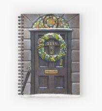 Sherlock Christmas 221 b Spiral Notebook