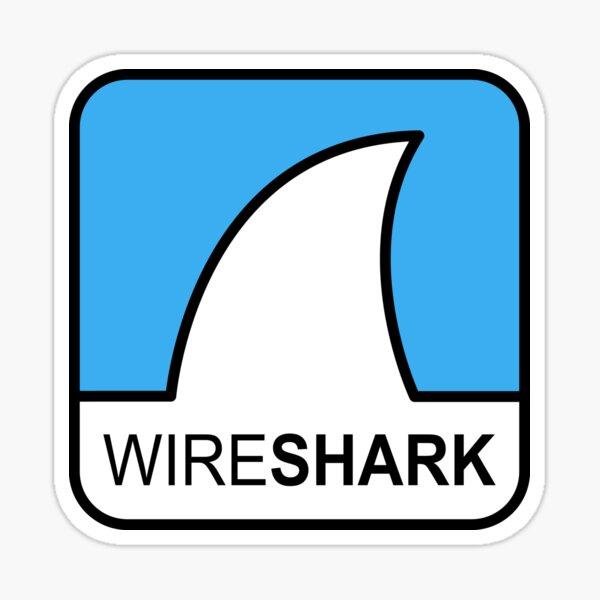 Wireshark Hi-Res Logo Square Pegatina
