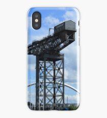"Finnieston Crane  & The Clyde Arc ""The Squinty Bridge""  iPhone Case/Skin"
