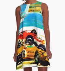 Weinlese-Werbeplakat Monaco 1970 A-Linien Kleid