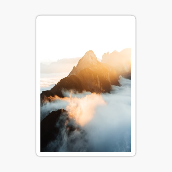 Sonnenuntergang über den Wolken Sticker