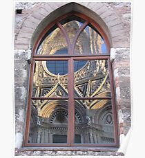 Siena Cathedral reflected Poster