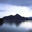 dusk, Anvil Island by Christopher Barton