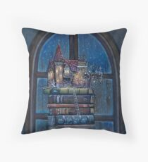 Castle Book Throw Pillow