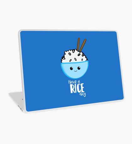 RICE Pun - Have a rice day! Motivational Laptop Skin