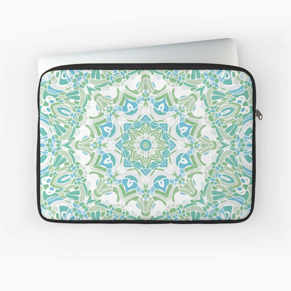 Sea Green Mandala Laptop Sleeve