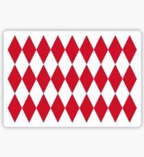 Lozenge Flag of Monaco Design  Sticker