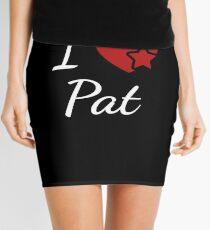 I Love Pat Soulmate Heart Design for Lovers Mini Skirt