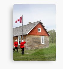 The Flag Raising, Canada Day 2010 Metal Print