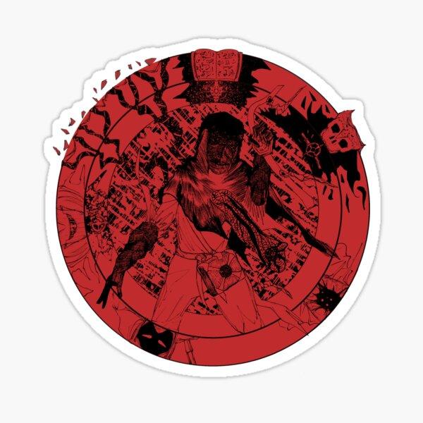 Pernathoris Black on Red Sticker