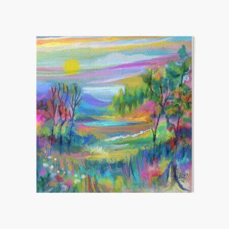Pastel Landscape #1 Art Board Print