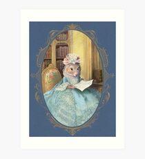 Madame Souris - an elegant mouse Art Print