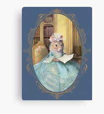Madame Souris - an elegant mouse Canvas Print