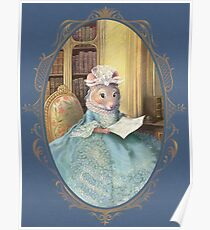 Madame Souris - an elegant mouse Poster
