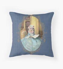 Madame Souris - an elegant mouse Throw Pillow