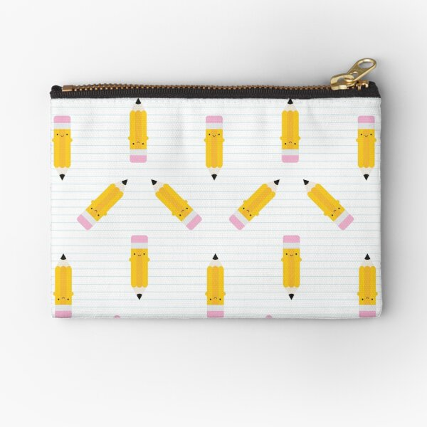 Happy Kawaii Pencils Zipper Pouch